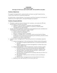 Cook Job Description Resume by 28 Target Cashier Job Description For Resume Caissier Exemple
