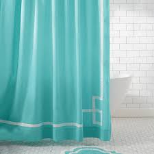emma ribbon trim shower curtain royal navy pbteen