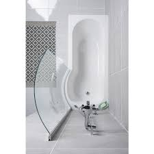 energise shower bath right hand 1675x800x700 with panels and screen energise 1675mm right hand p shape shower bath with screen and panel