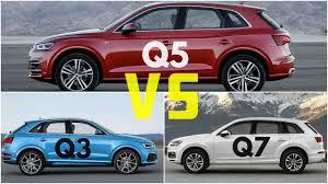 audi q5 model comparison 2017 audi q5 vs audi q7 vs audi q3