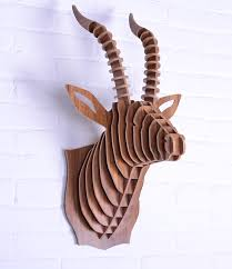 wooden animal wall nodic goat wooden wall craft diy wood novelty item wood