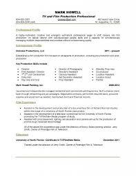 film resume template