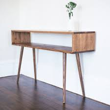 Modern Wood Couch Solid Wood Center Custom Made Mid Century Modern Credenza Center