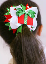 the hair bow company boutique christmas present hair bow for