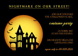Halloween Costume Party Invitations Spooky Dark Halloween Costume Party Invitation Idea Card