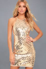 party dress chic gold dress sequin dress party dress bodycon dress