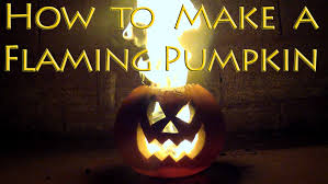 Halloween Lights Video How To Make A Flaming Pumpkin With Pictures