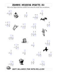 Halloween Activity Sheets And Printables Zombie Missing Digits A