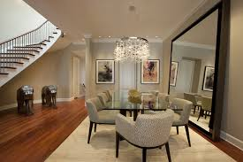 mirrored dining table dining room contemporary with area rug