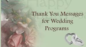 thank yous on wedding programs thank you messages wedding programs jpg