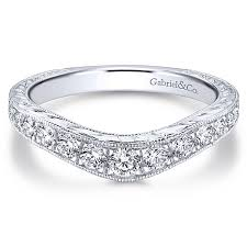curved wedding band curved anniversary bands diamond wedding bands gabriel co