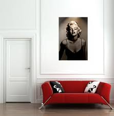 Marilyn Monroe Living Room by Amazon Com Marilyn Monroe Vintage Black U0026 White Print On Canvas
