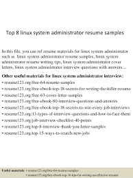 Teen Resume Examples by Download Linux Sys Administration Sample Resume
