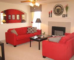 home design red couch living room ideas sofa yellow wall
