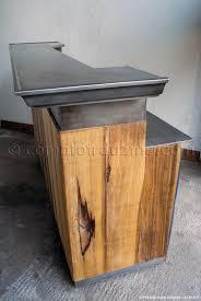 meuble cuisine zinc attrayant meuble cuisine en bois 14 comptoir en zinc moulur233