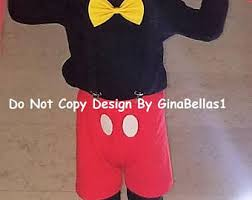 2t Mickey Mouse Halloween Costume Birthday Cake Smash Mickey Necktie Ginabellas1