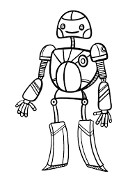 free robot coloring