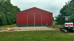 Red Barn Mt Vernon Mo Custom 40x60 Pole Barn Marshfield Mo U2014 Marshfield Buildings