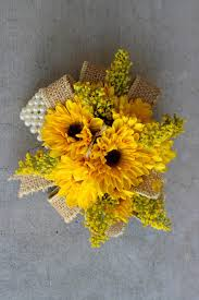 sunflower corsage celebration flair summery sunflowers