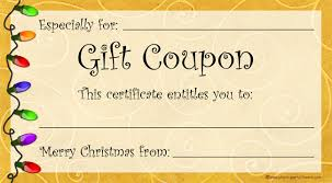 make your own gift card printable gift coupon template