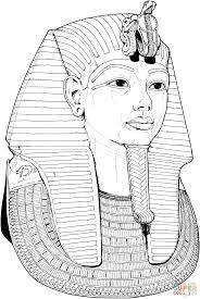 tutankhamun death mask coloring page free printable coloring pages