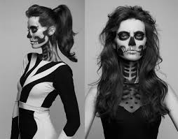 skeleton face for halloween sugar skull day of the dead makeup holiday ideas pinterest