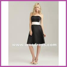 simple elegant strapless design short black bridesmaid dresses 1325