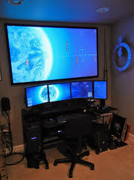 Gaming Room Pc Gaming Desk Setup Gaming Setup Ideas The