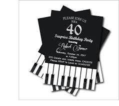 20 pcs lot 40th birthday party invitations piano party