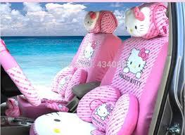 cartoon kitty pink car seat cover universal 5