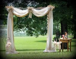 wedding arches decorated with tulle draped wedding arbor arbor built from pallets draped with