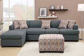 Blue Sofa Set Fabric Sofas Living Room Blue Gray Blended Linen Sofa
