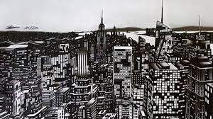 new york city drawing time lapse youtube