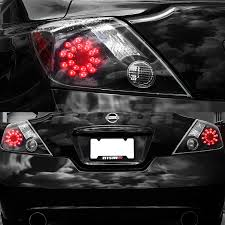 nissan altima coupe led lights for 2008 2013 nissan altima 2dr coupe black led rear brake tail