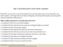 Receiving Clerk Resume Sample by Top 5 Receiving Clerk Cover Letter Samples 1 638 Jpg Cb U003d1434846310