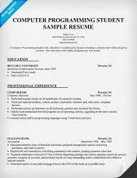 Computer Science Resume No Experience Sample Computer Science Student U003ca Href U003d