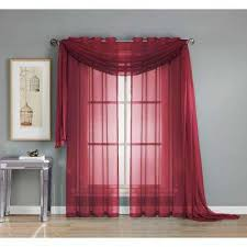 Red Scarf Valance Brown Window Scarves U0026 Valances Window Treatments The Home Depot