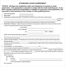 lease contract templates house rental agreement doc free download