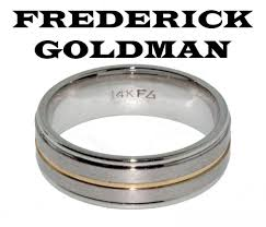 frederick goldman wedding bands frederick goldman 11 7101 g men s wedding band in 14k 2 tone gold