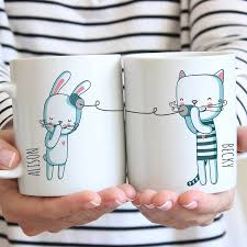 personalised best friends ceramic mugs by parkins interiors