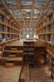 magnificent public library featuring mountainously spiraling