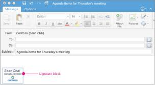create and insert a signature in outlook for mac office support