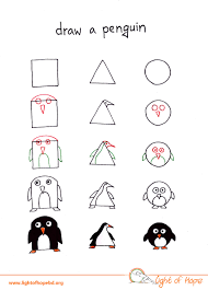 how to draw any animal from a square a triangle and a circle