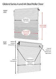 Single Garage Dimensions Steel Roller Door Gliderol Steel Roller Garage Doors Non