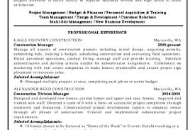 Sample Resume For Construction Manager by Construction Estimator Resume Construction Manager Resume By