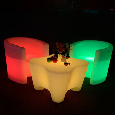 Led Outdoor Furniture - solar powered led outdoor furniture led chairs and tables