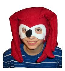 Sonic Hedgehog Halloween Costume Knuckles Sonic Hedgehog 4 Pc Costume Halloween Hat Shoe