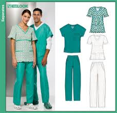 new look 6857 misses and scrub tops and misses