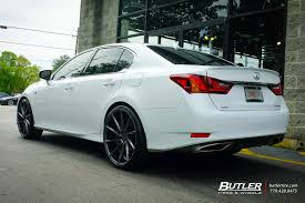 lexus gs 350 tire size lexus gs with 22in vossen cvt wheels exclusively from butler tires