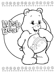 care bears coloring pages coloringstar